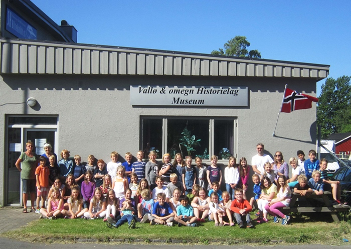 Storbesøk på Vallø-museet